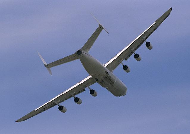 莱比锡机场的世界最大飞机安托诺夫–225起火