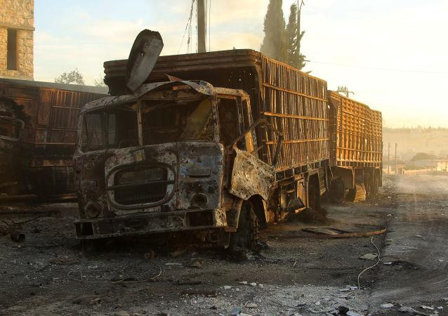 俄外长:俄坚持要求提供人道主义车队遭遇袭击的炮弹作为物证
