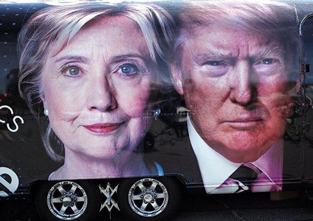 民调:对谁是克林顿和特朗普辩论赢家问题意见分歧