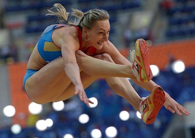 俄罗斯三级跳田径运动员安娜·普亚蒂赫