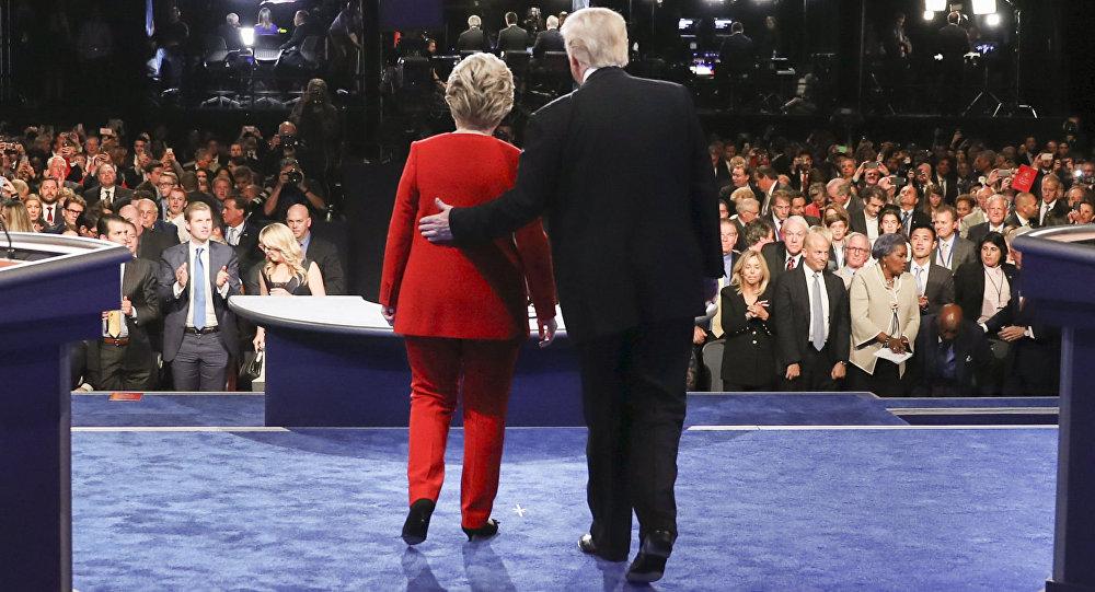 特朗普和希拉里在纽约举行辩论会