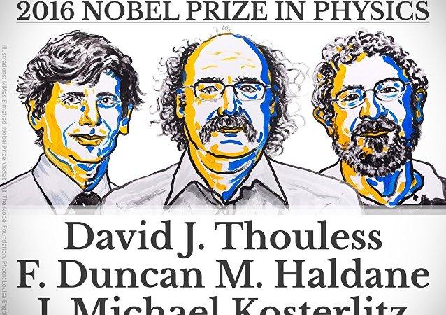 诺贝尔物理学奖揭晓 三名美国科学家获奖