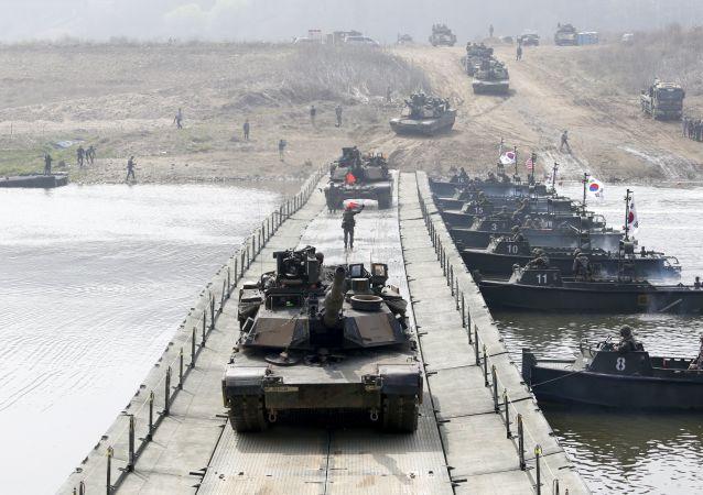韩美举行过拦截并摧毁朝鲜大规模杀伤武器的演习