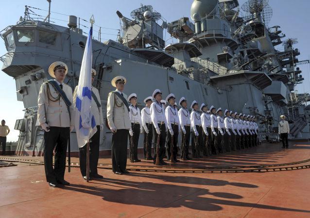 俄海军在塔尔图斯(资料图片)