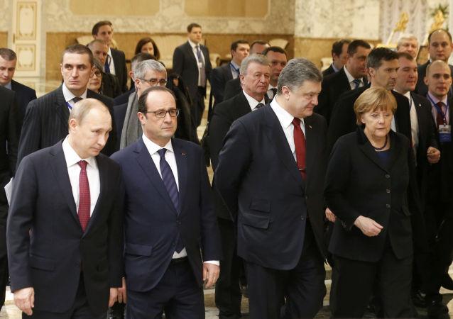 """俄驻法大使:""""诺曼底模式""""四国领导人10月19日将在柏林举行会谈"""