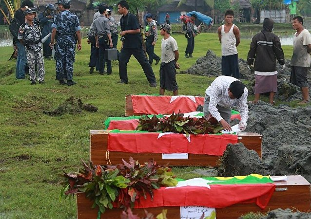 媒体:缅甸若开邦冲突导致十余人死亡