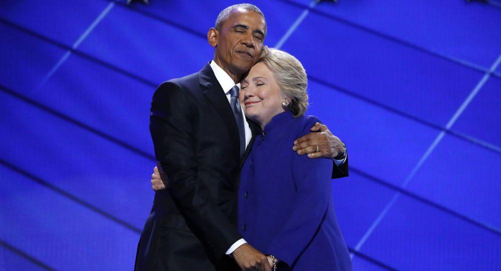 奥巴马与克林顿