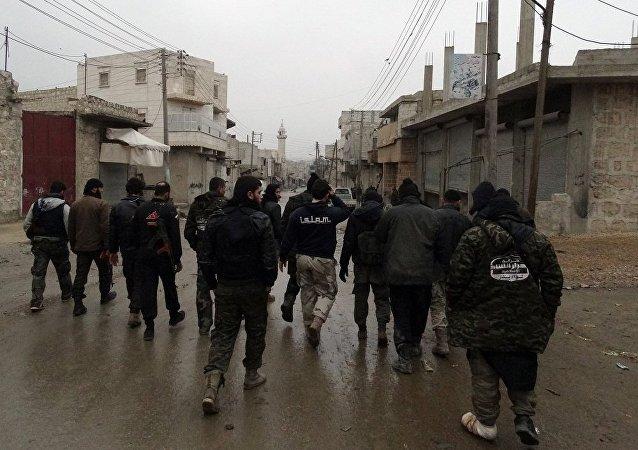 '自由沙姆人伊斯兰运动'武装分子