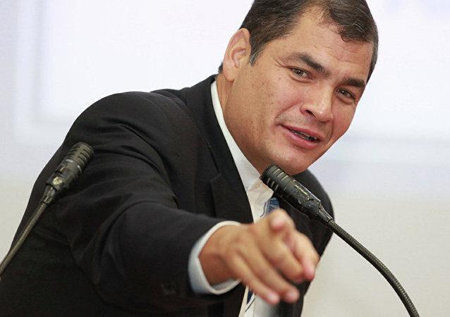 厄瓜多尔总统拉斐尔·科雷亚