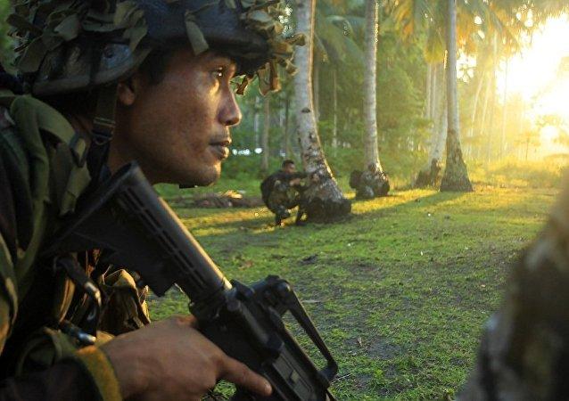 阿布沙耶夫恐怖组织一名头目被菲律宾政府军打死