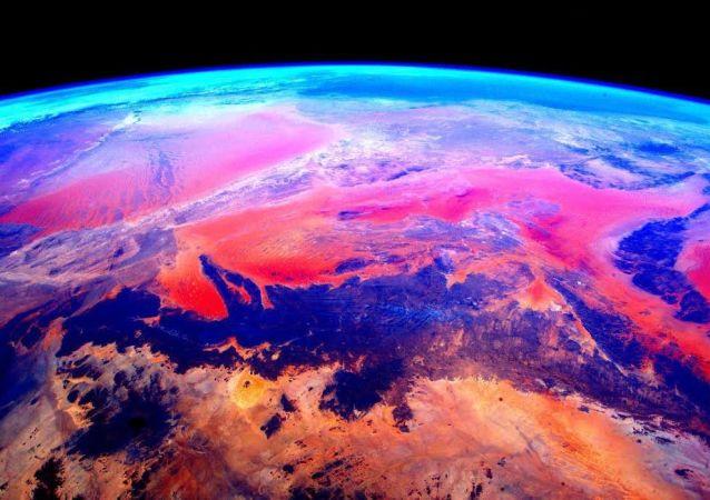 国际空间站从太空上拍摄的地球照片