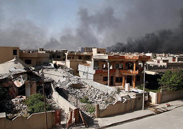 俄国防部:俄空天部队未在叙利亚实施空袭,以美为首联军9次打击摩苏尔