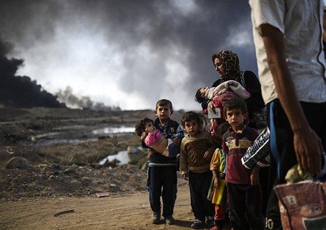 伊拉克移民部长:西摩苏尔难民人数逼近10万
