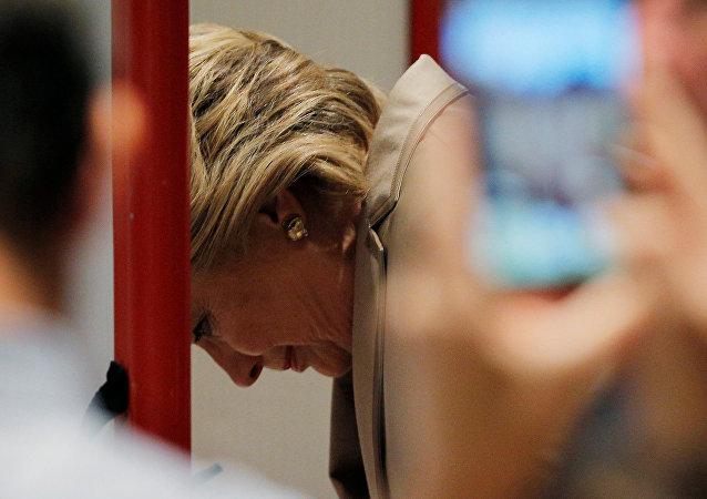希拉里为美国总统大选投票