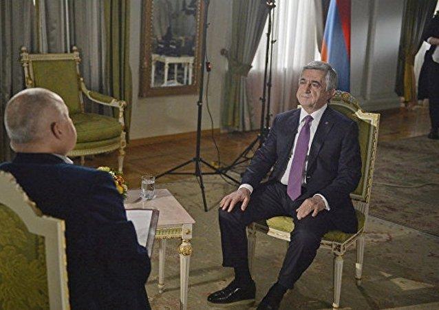 亚美尼亚总统:埃里温承认阿塞拜疆领土完整