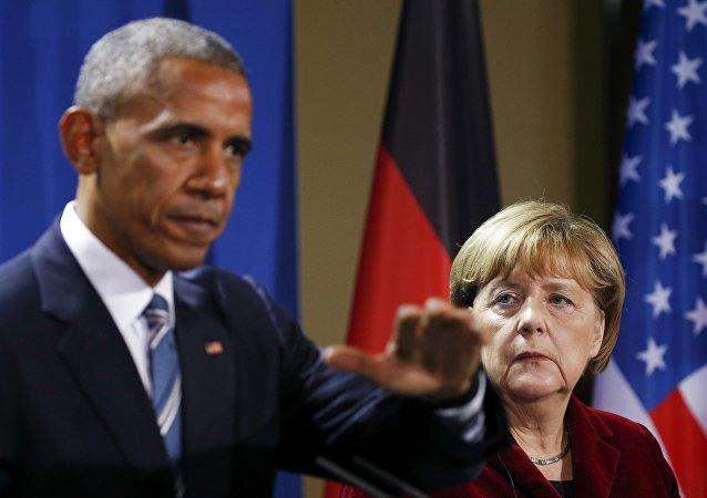奥巴马与默克尔