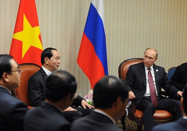 普京在与越南总统会面时指出两国关系的积极发展