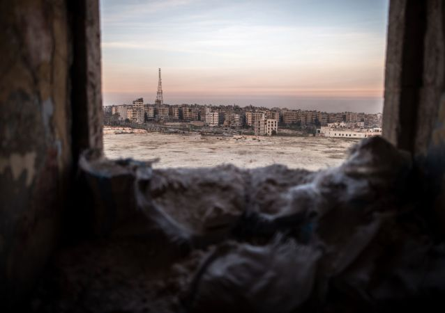 """武装分子用""""冰雹""""火箭炮炮击阿勒颇大学,有人员伤亡"""