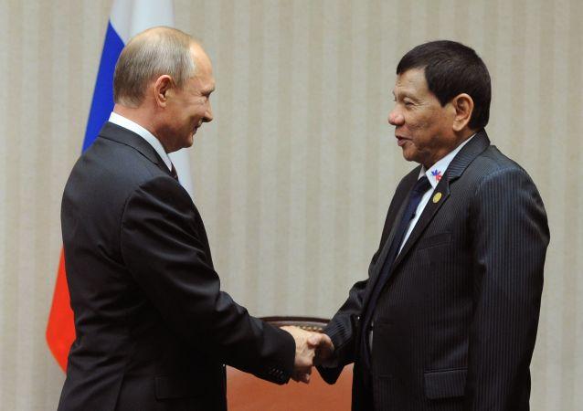 菲律宾总统:俄中同菲律宾一道儿可把一切事情做得尽善尽美