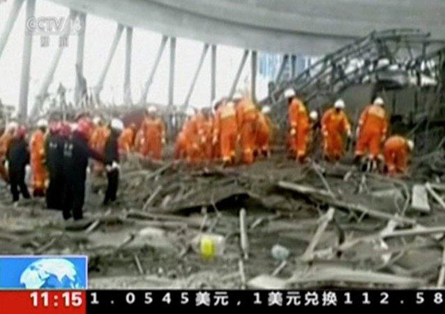 中国在建电厂倒塌事故已造成74人遇难