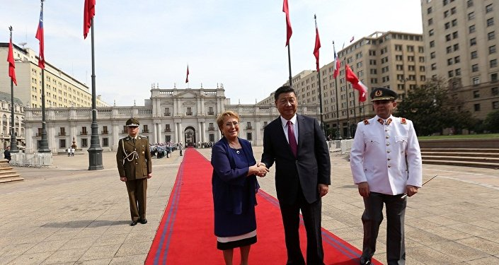 中國主席習近平與智利總統