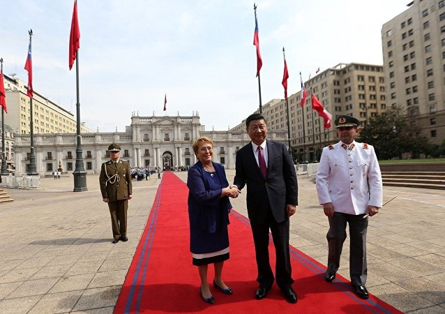 中国主席习近平与智利总统