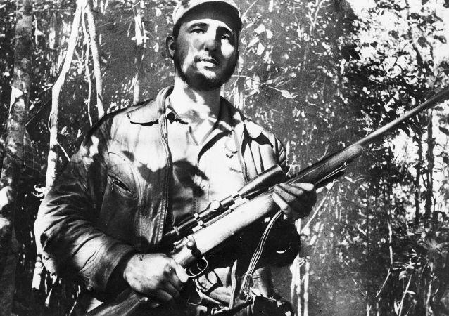 起义军领袖菲德尔•卡斯特罗图片