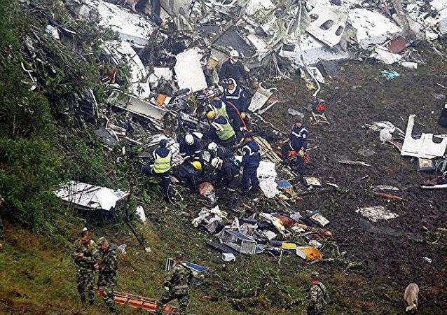 哥伦比亚民航管理处:载有巴西球员坠毁飞机的黑匣子保存完好