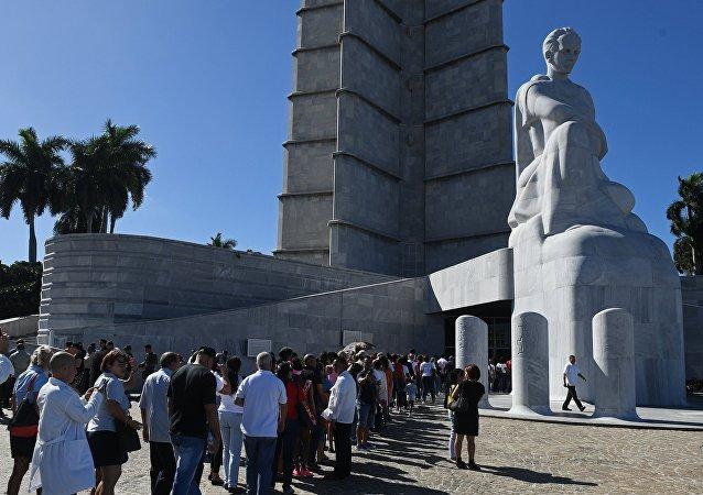 菲德尔•卡斯特罗追悼会在古巴首都哈瓦那开始