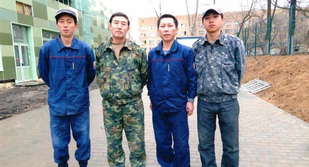 朝鲜工人在俄罗斯(资料图片)