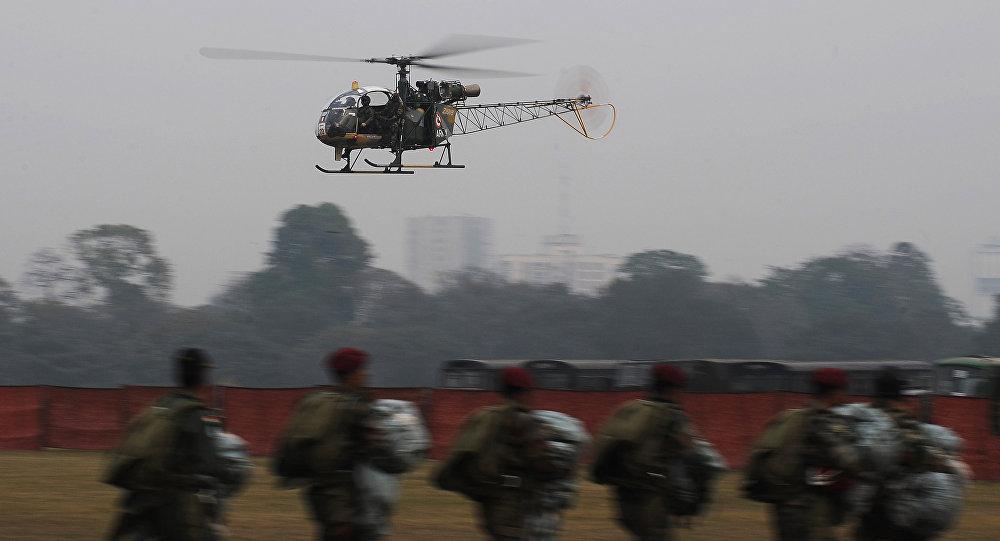 印军一架直升机在该国东部失事