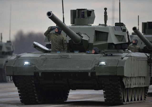 """俄罗斯""""阿玛塔""""坦克"""