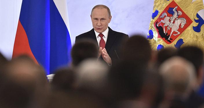 俄罗斯总统向联邦会议发表国情咨文