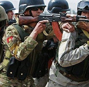 上合组织官兵在中国进行联合训练