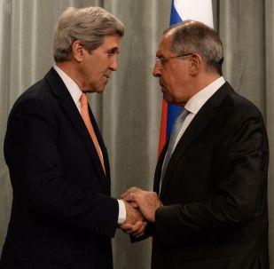 俄罗斯外长拉夫罗夫和美国务卿克里