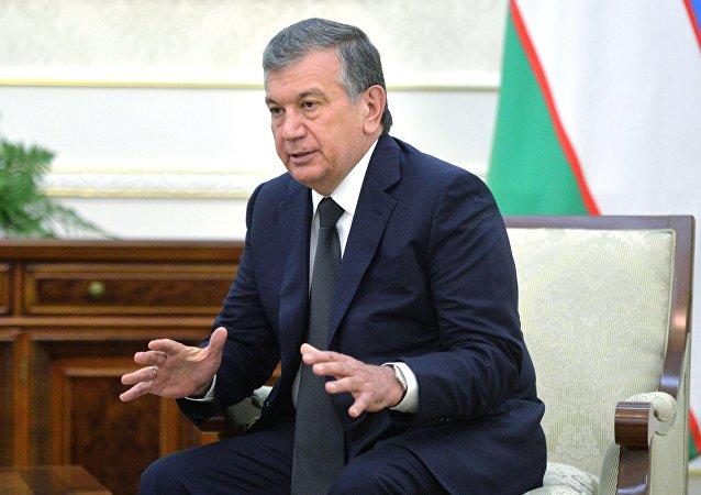 乌兹别克斯坦总统沙夫卡特•米尔济约耶夫