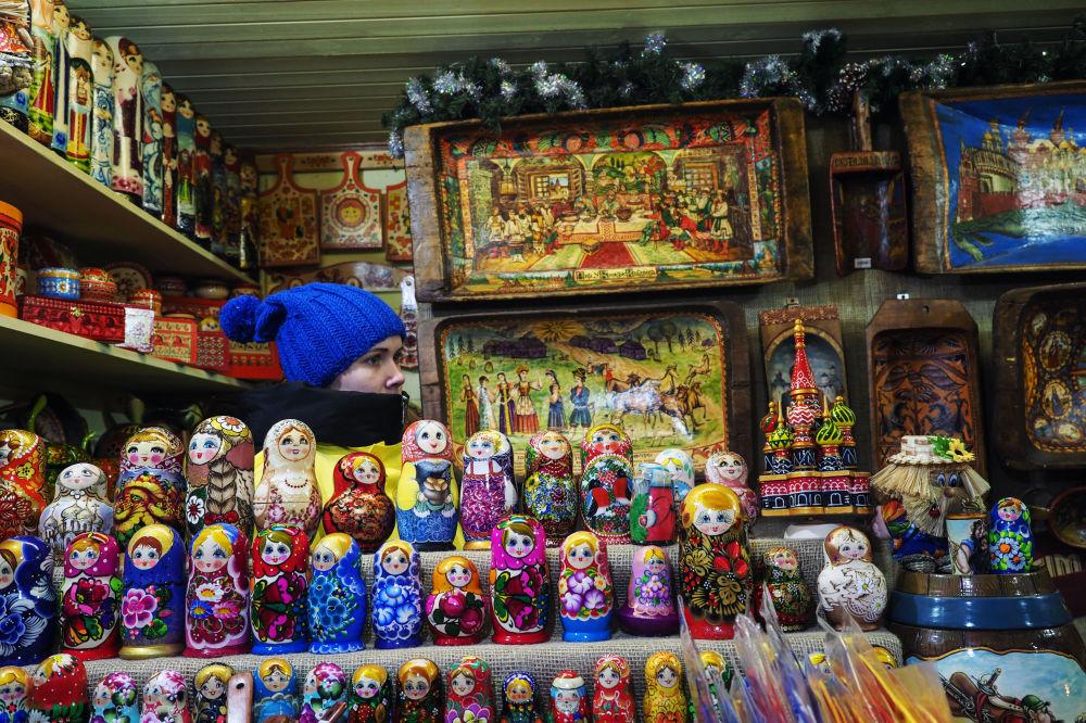 莫斯科红场年货市场