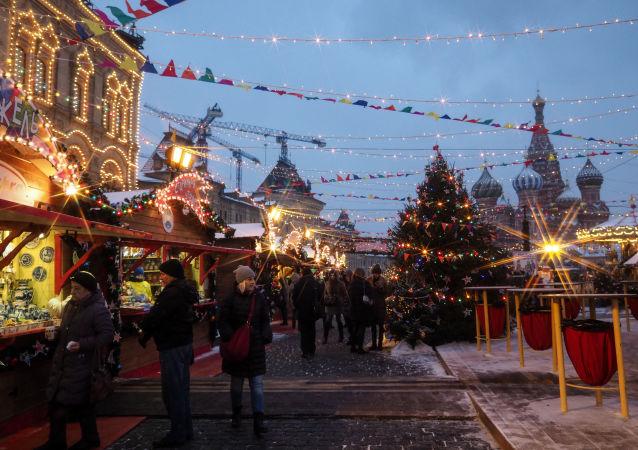 莫斯科新年节日期间将为中国游客举行免费徒步游