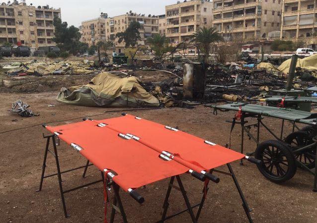 阿勒颇俄野战医院遇袭事件中一名医务人员伤重不治