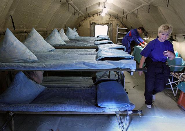 俄紧急情况部医疗队的空中机动医院