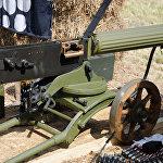 烏軍在頓巴斯使用1910年式馬克西姆重機槍