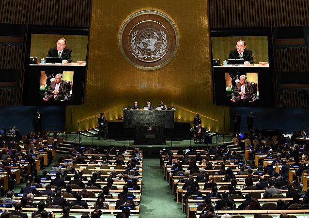 联大通过呼吁立即在叙停止军事行动的决议