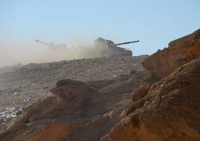 """外媒:叙利亚军继续在巴尔米拉地区同""""伊斯兰国""""恐怖分子进行战斗"""