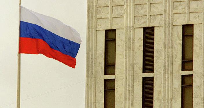 俄罗斯国旗在美国