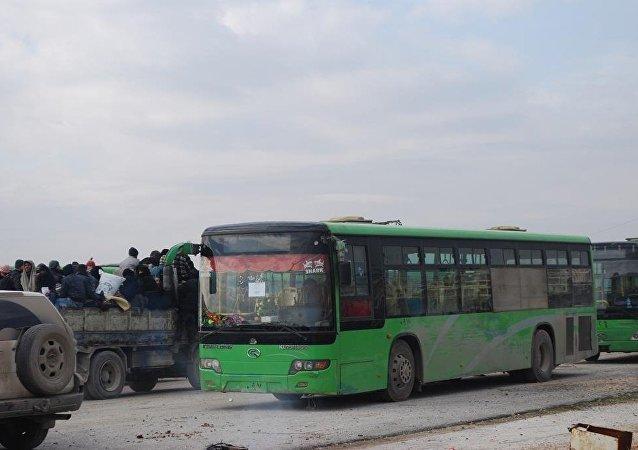 武装分子送离阿勒颇为叙利亚其他地区实施停火制度提供可能