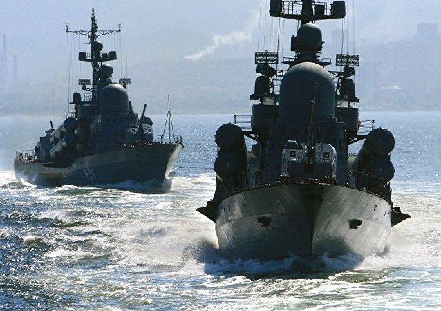 俄国防部:太平洋舰队作战舰艇支队与印尼海军举行演习