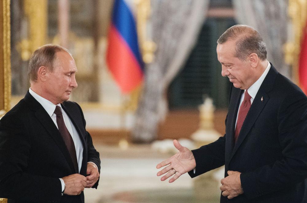 俄罗斯总统普京和土耳其总统埃尔多安
