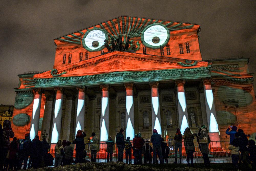 """莫斯科国际""""光圈""""艺术节开幕式"""