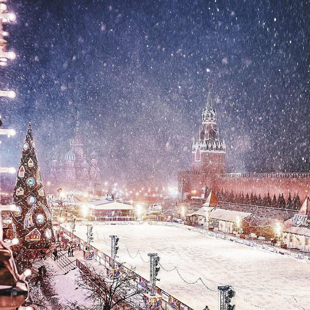 莫斯科红场上的溜冰场