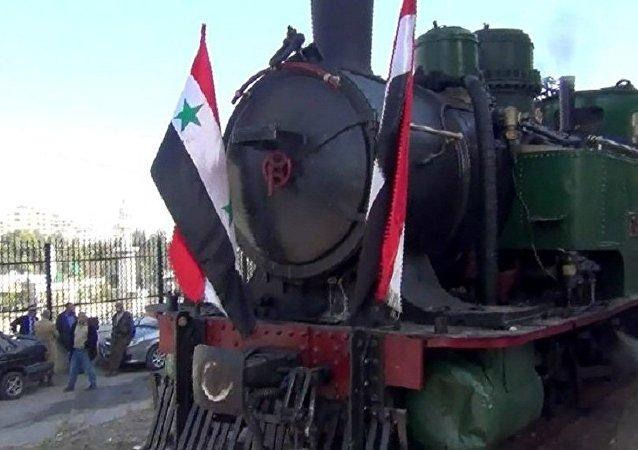 叙利亚机车头